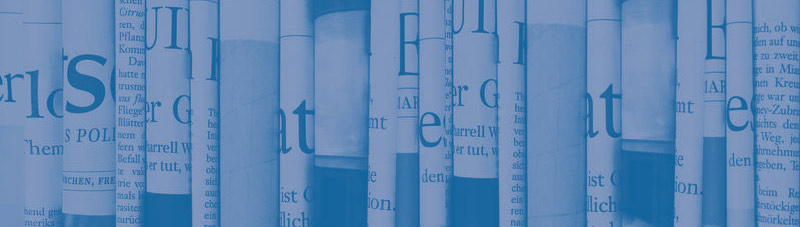 Zeitungen als Metapher für Aktuelles